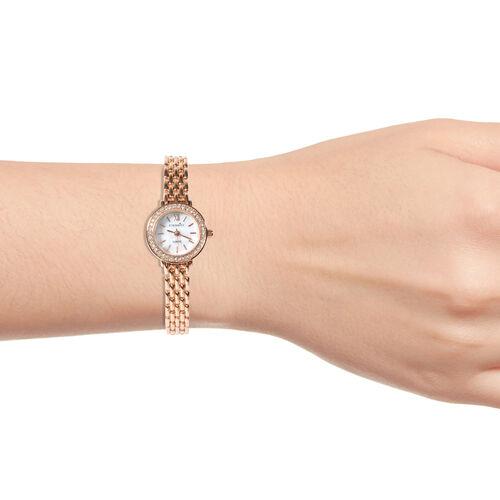 ETERNITY - Ladies Swarovski Studded Watch in Rose Gold Tone