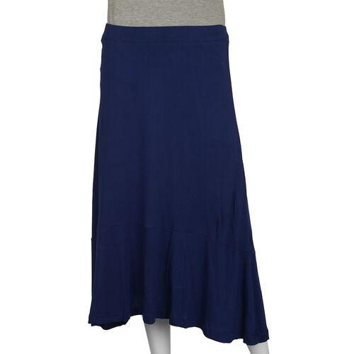 Jersey Midi Skirt in Navy Colour