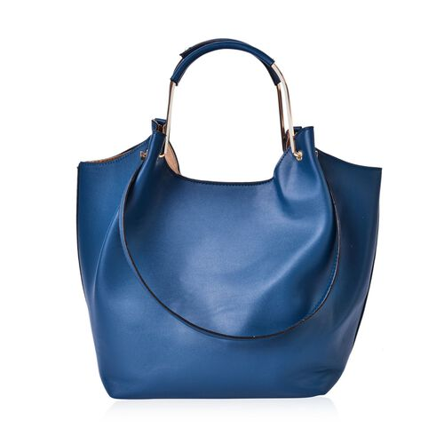 LIMITED COLLECTION Yuan Turquoise Colour Tote Bag (Size 38x27x26x16 Cm)