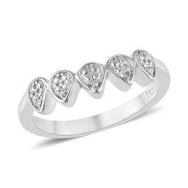 Diamond (Rnd) Crown Ring in Platinum Overlay Sterling Silver