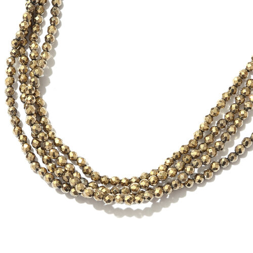 Gold Hematite (Rnd) Beads Necklace (Size 70) 161.250 Ct.