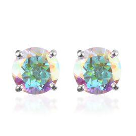 Mercury Mystic Topaz Stud Earrings in Sterling Silver 2.00 Ct.