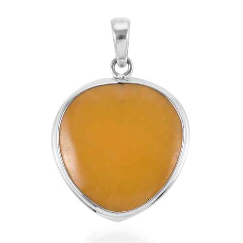 Royal Bali Collection -Honey Jade (Hrt) Pendant in Sterling Silver 20.000 Ct.