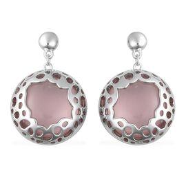 RACHEL GALLEY 31.96 Ct Rose Quartz Earrings in Sterling Silver 9.69 Grams