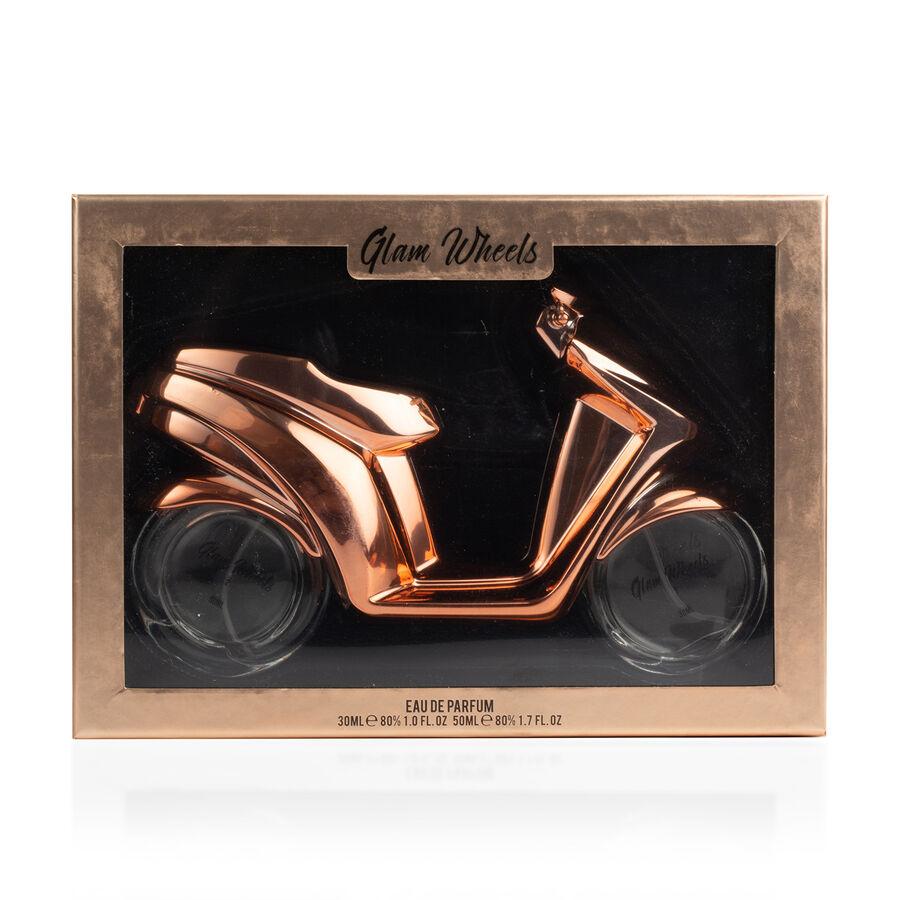Glam Wheels Rose Gold Scooter 2 Wheels 80ml Eau De Parfum For Her
