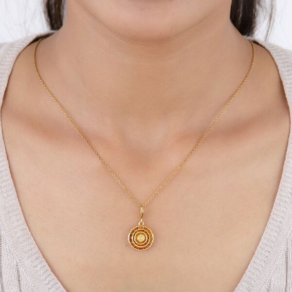 Marigold October Birth Flower Charm in Gold Plated Sterling Silver
