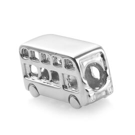 Charms De Memoire Platinum Overlay Sterling Silver Bus Charm