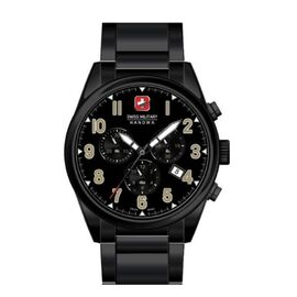 Swiss Military Hanowa Mens Sergeant Chrono Black Watch