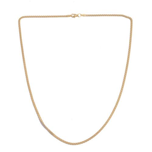 JCK Vegas Collection 14K Gold Overlay Sterling Silver Bismark Chain (Size 18)