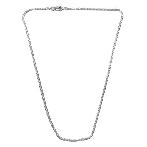 JCK Vegas Collection - Rhodium Plated Sterling Silver Rope Chain (Size 16), Silver wt. 6.00 Gms.