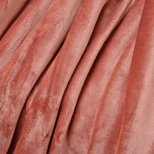 Super Auction-Dusky Pink Colour Supersoft Reversible Flannel Sherpa Blanket (150x200 cm)
