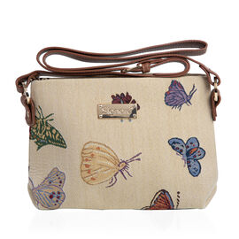 SIGNARE - Tapestry Collection - Butterfly Cross Body Bag ( 28 x 18 x 8 Cms)