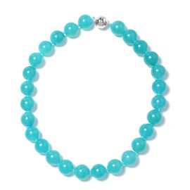 Extremely Rare Size 731 Ct Russian Amazonite Beaded Necklace in Sterling Silver 20 Inch