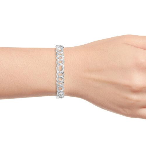 Close Out Dea l- Sterling Silver Double Curb Bracelet (Size 7), Silver wt 12.84 Gms.