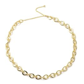 RACHEL GALLEY Love Link Collection- Yellow Gold Overlay Sterling Silver Love Link Necklace (Size 16