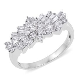 ILIANA 18K White Gold Diamond (Rnd and Bgt) (SI/G-H) Ring 1.00 Ct.