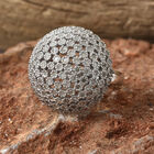 Designer Inspired- Limited Edition- Diamond (Rnd) Dome Ring (Size P) in Platinum Overlay Sterling Silver 0.750 Ct