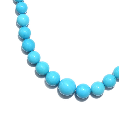 From Tucson - ILIANA 18K Y Gold AAAA Extremely Rare Size Sleeping Beauty Turquoise Necklace (Size 18) 175Ct.