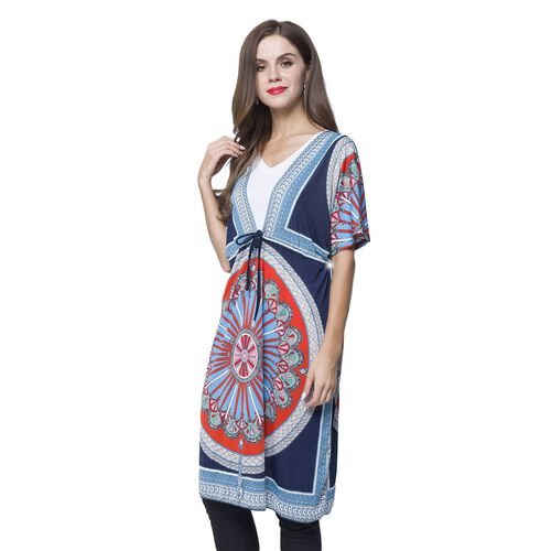 Navy, Red and Multi Colour Printed Apparel (Size 90X62 - Free Size) with Adjustable Waistband