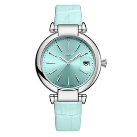 GAMAGES OF LONDON Ladies Starlight Swiss Movement with Diamond - Blue up to 9.5 in
