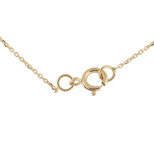 Hatton Garden Close Out - 9K Yellow Gold Initial V Necklace (Size 15 with 2 Inch Extender)