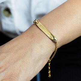 Personalised Bar and Birthstone Bracelet