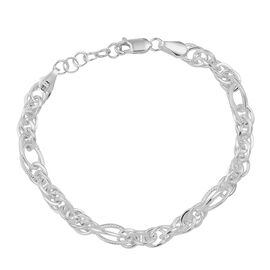 Handmade Byzantine Chain Bracelet in Sterling Silver 4.08 Grams Size 7 Inch