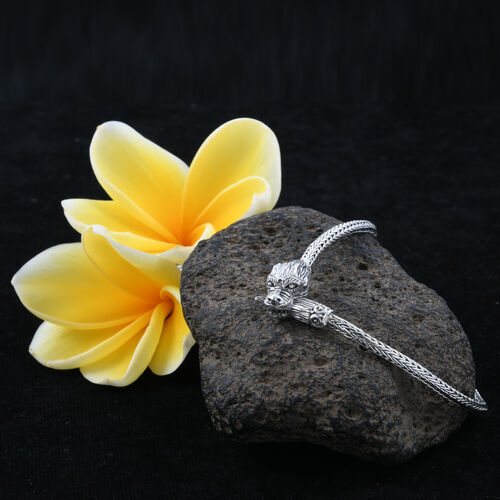 Royal Bali Collection - Sterling Silver Dragon Head Tulang Naga Necklace (Size 18) , 45.00 Grms.