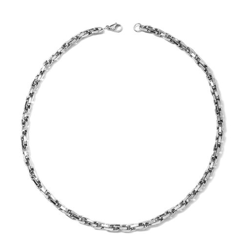 22 Inch Stainless Steel Singapore Necklace