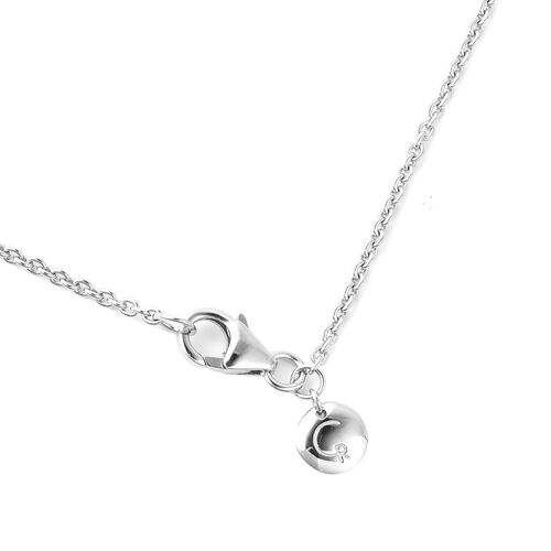 Warp Collection - RACHEL GALLEY Rhodium Overlay Sterling Silver Lattice Pendant with Chain (Size 30)