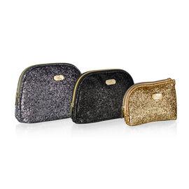Soul Beauty: Trio Glitter Cosmetic Bags