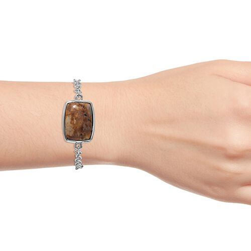 Venus Jasper (Cush) Bracelet (Size 7.5) in Ion Plated Stainless Steel 26.250 Ct