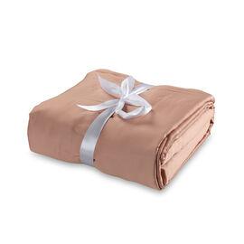 Vegan Silk 4 Pcs. 100% Bamboo Bedding Set in Size KING - Colour Rose - (1 Fitted + 1 Flat Sheet & 2