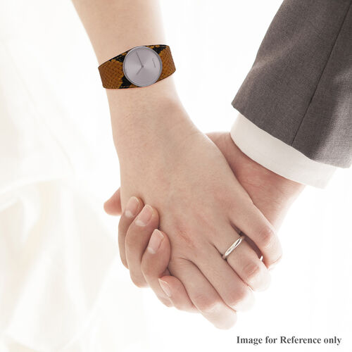 CALVIN KLEIN Women Analogue Quartz Watch with Leather Strap