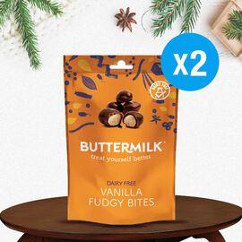 Buttermilk 2 x 100g Dairy Free Vanilla Fudgee Bites