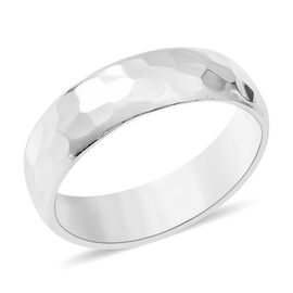 One Time Deal- Sterling Silver Hammer Design Ring
