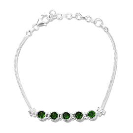 Artisan Crafted Russian Diopside Chain Bracelet (Size 7 with 1.5 inch Extender) in Sterling Silver 2