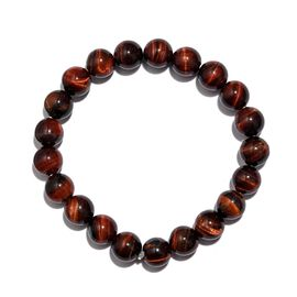 Red Tiger Eye Stretchable Beaded Bracelet 7.5 Inch