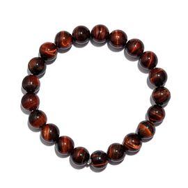 Red Tiger Eye Stretchable Beaded Bracelet 7.5 Inch