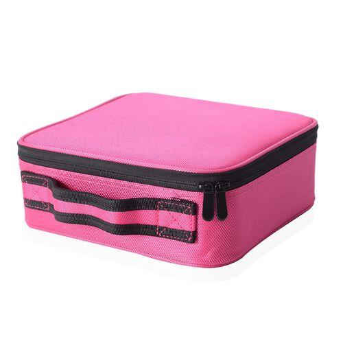 Pink Colour Small Size Makeup Case (Size 25x22x9 Cm)