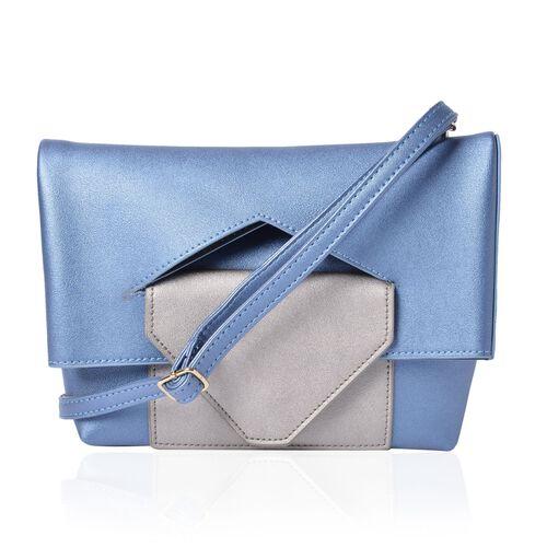 Celia Light Blue Shoulder Bag with Adjustable and Removable Shoulder Strap (Size 26x20x17x7 Cm)