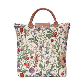 SIGNARE - Tapastry Collection - Morning Garden Foldable Shopping Bag/Large Tote Bag (38 x 35.5 x 9 C