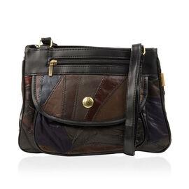 100% Genuine Leather Handbag (Size 21x28x9 Cm) - Multi