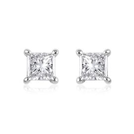 NY Close Out 14K Yellow Gold Natural Diamond (I1-I2/G-H) Stud Earrings (with Screw Back) 1.00 ct.
