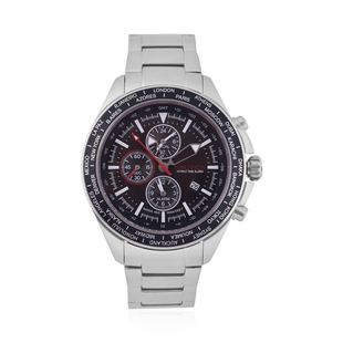 Nautica Ocean Beach 10 ATM Water Resistant Chronograph Mens Watch with Navy Steel Strap - 48MM