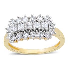 ILIANA Diamond (1.01 Ct) 18K Y Gold Ring  1.010  Ct.