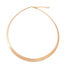 ILIANA 18K Yellow Gold Graduated Omega Necklace (Size 17 with 1.5 inch Extender).Gold Wt 4.50 Gms