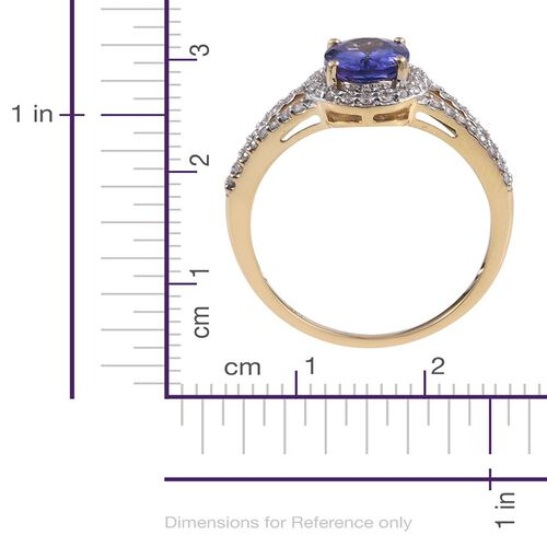 New York Close Out Deal- 14K Y Gold AA Tanzanite (Ovl 2.00 Ct), Diamond (I2-I3/G-H) Ring 2.500 Ct.