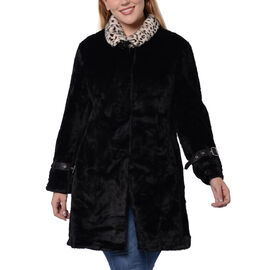 Close Out Deal Soft Winter Coat (Size 62x90cm) - Black