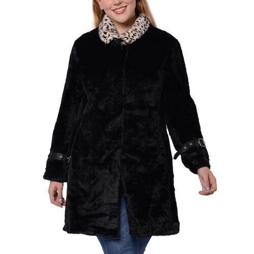 Close Out Deal Soft Winter Coat (Size 62x90cm) - Black